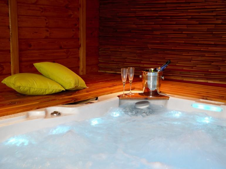 Unwind in the hot tub annexe