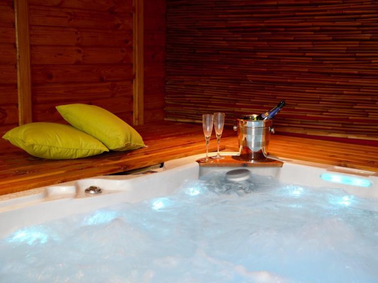 Unwind in the hot tub annexe