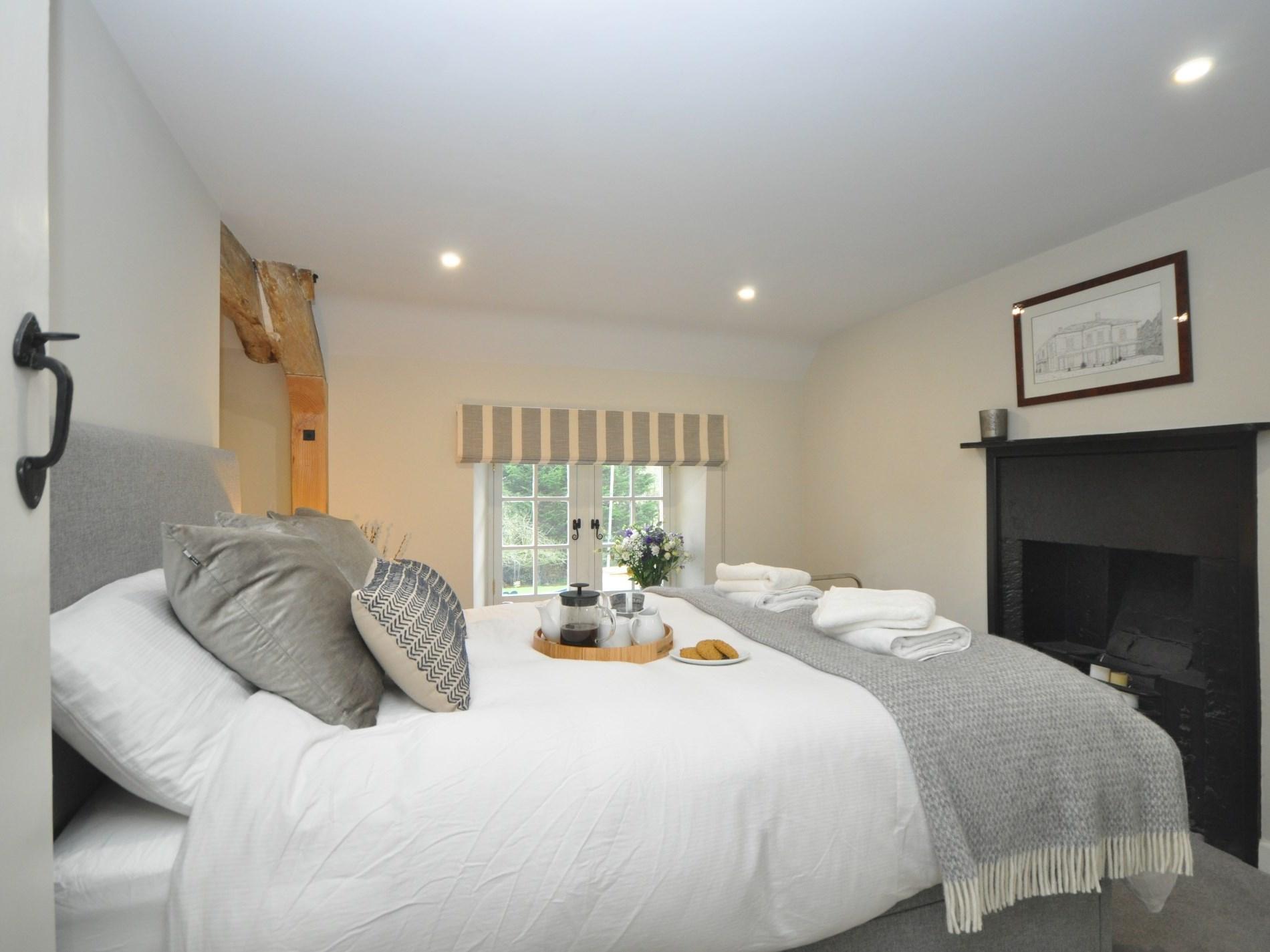 Enjoy a peaceful nights sleep in this stylish double room