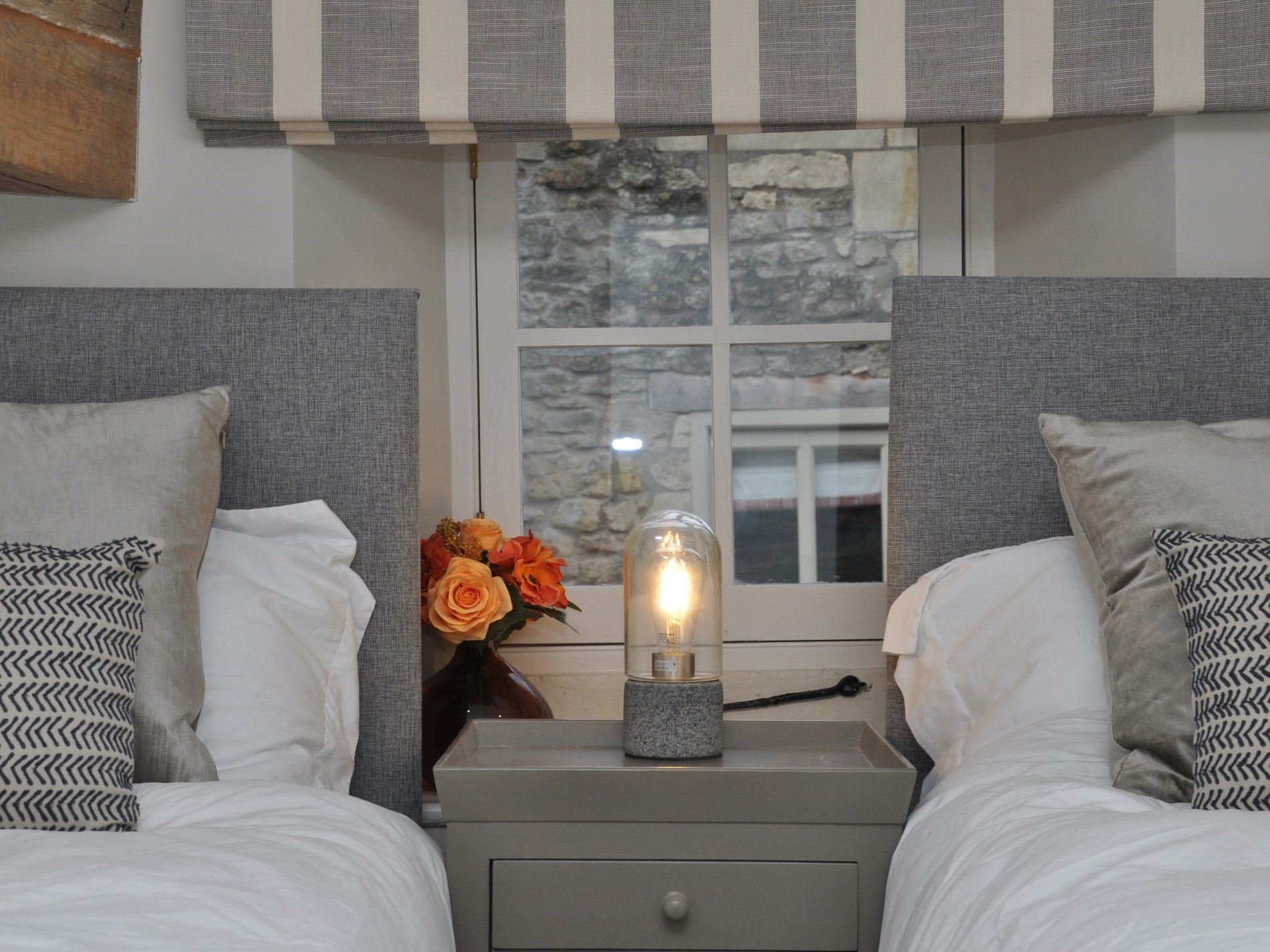 A cosy twin room
