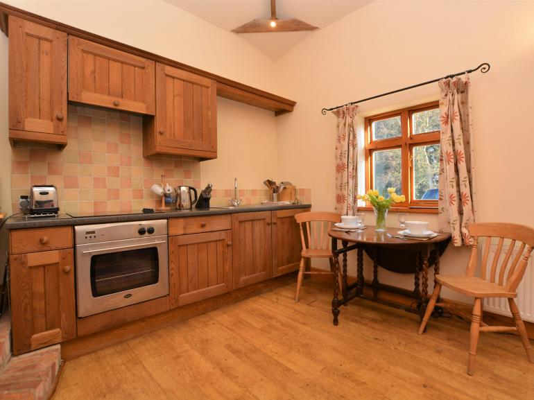 Well equipped open plan kitchen, dining and lounge area