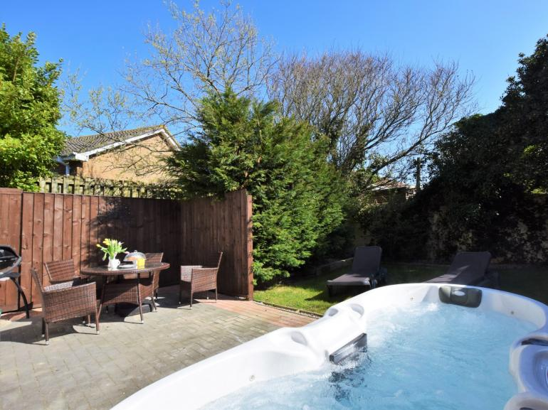 Great size space to enjoy with garden furniture and sun loungers