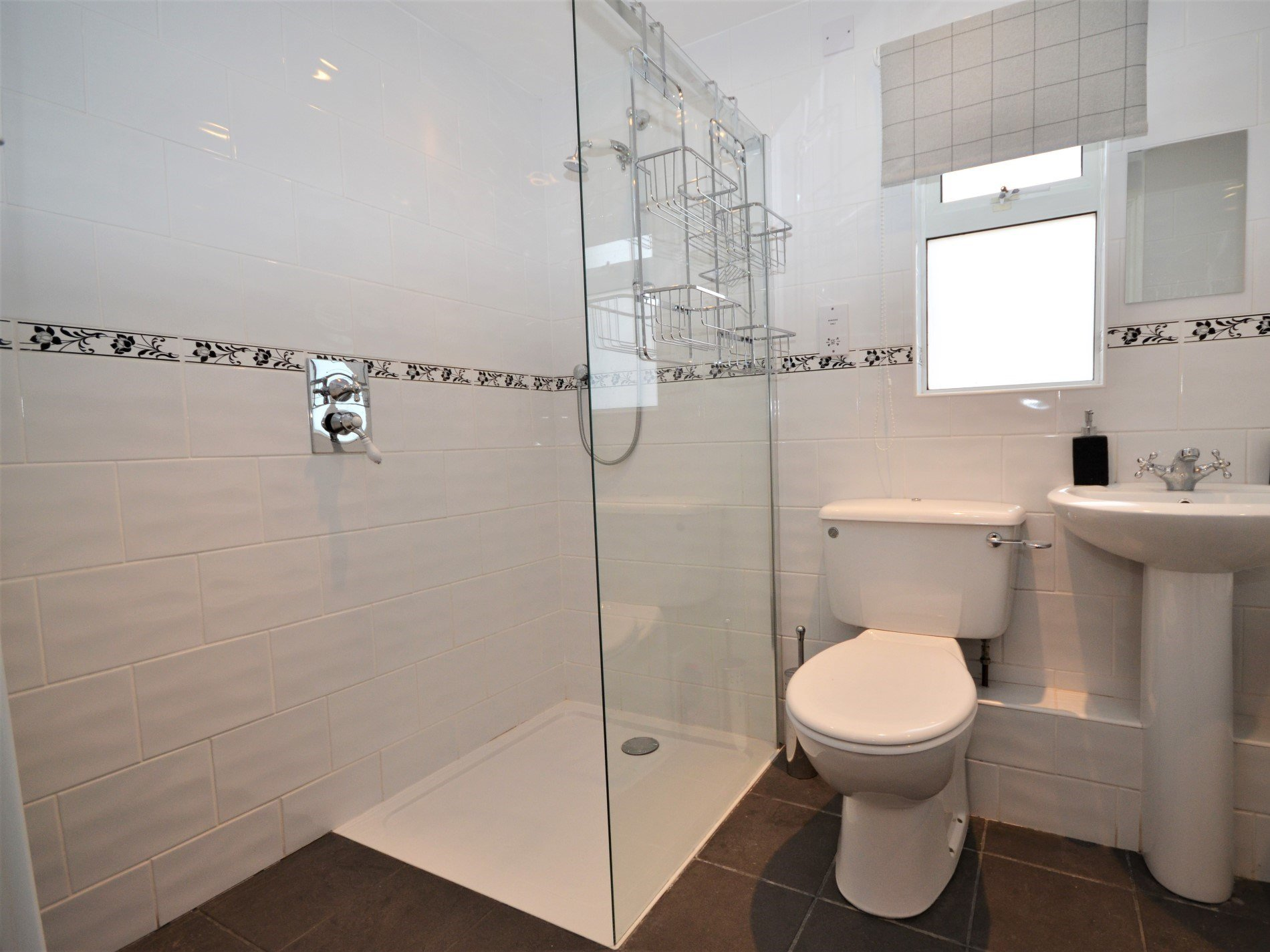 En-suite, with a bath, separate shower and WC