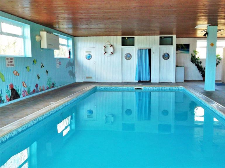 The Indoor shared heated pool