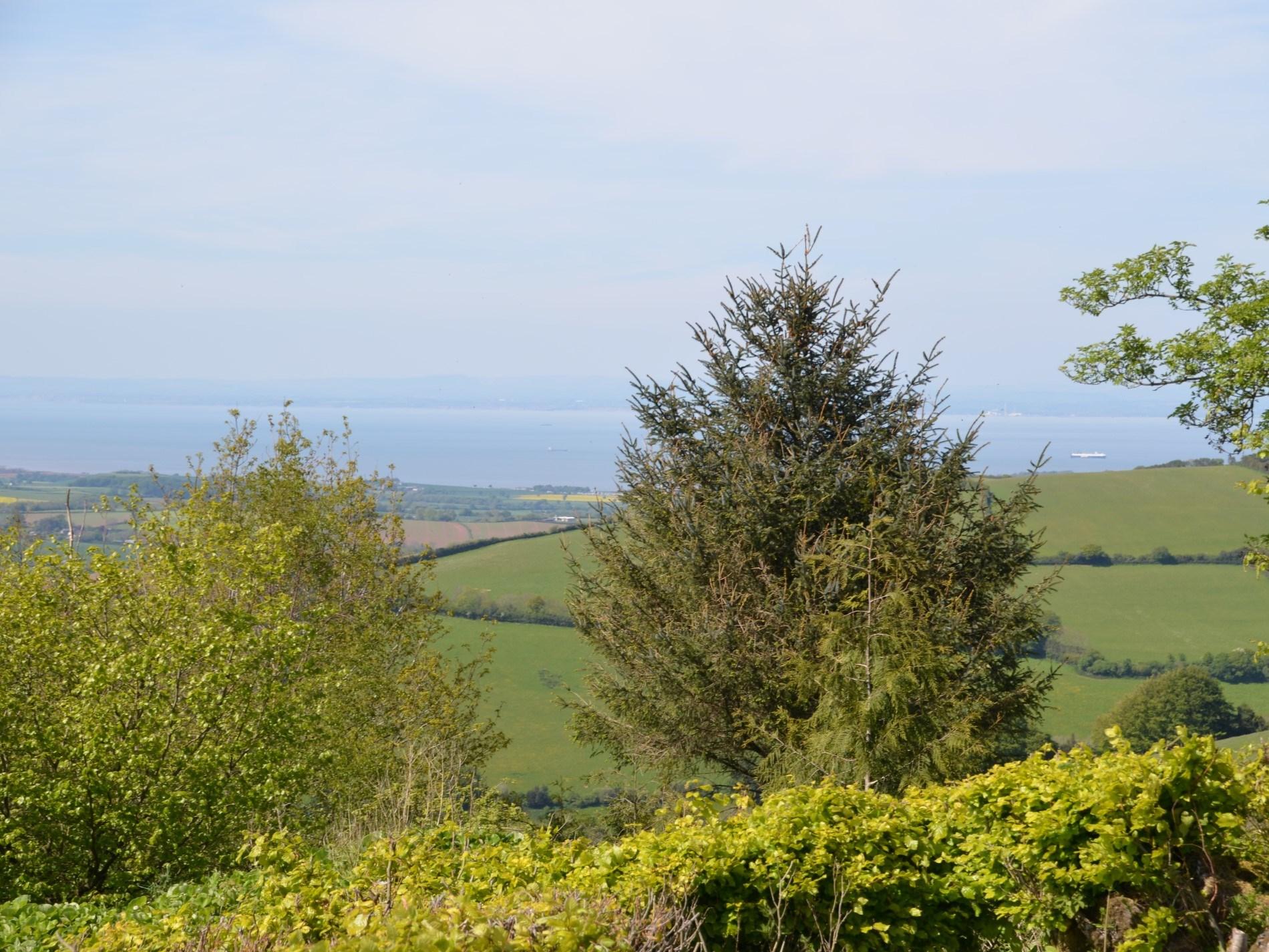 Looking across towards the Somerset coast from Exmoor National Park
