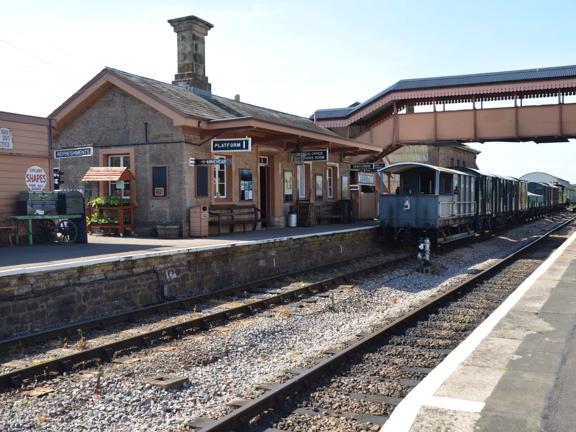 The West Somerset Railway is conveniently located behind the manin farmhouse