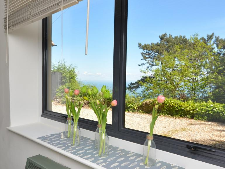 Seaviews can be enjoyed from within the property and outside too