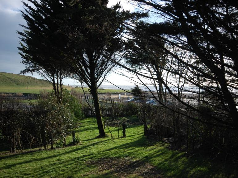 Views from the detached property which is just a few metres from beach