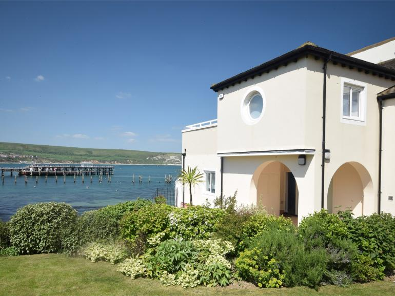 View towards apartment overlooking Swanage bay