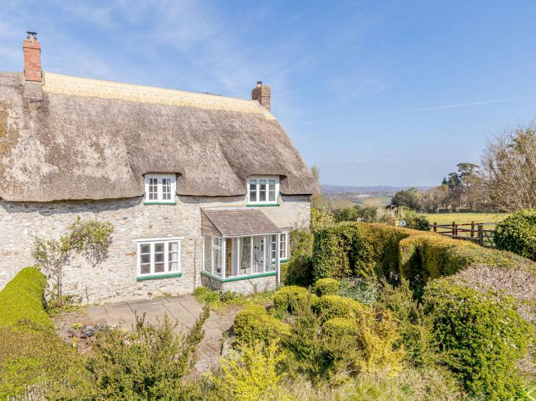 Looking towards the charming Grade II listed cottage
