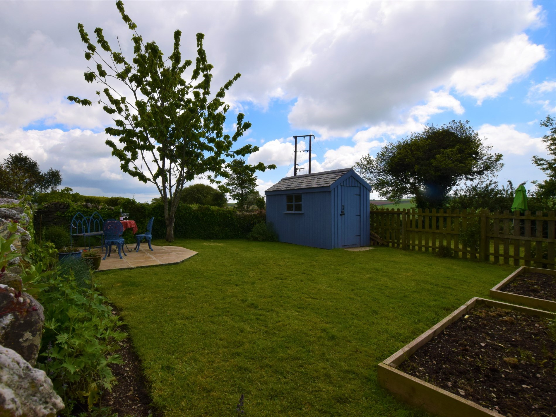 Lovely enclosed garden