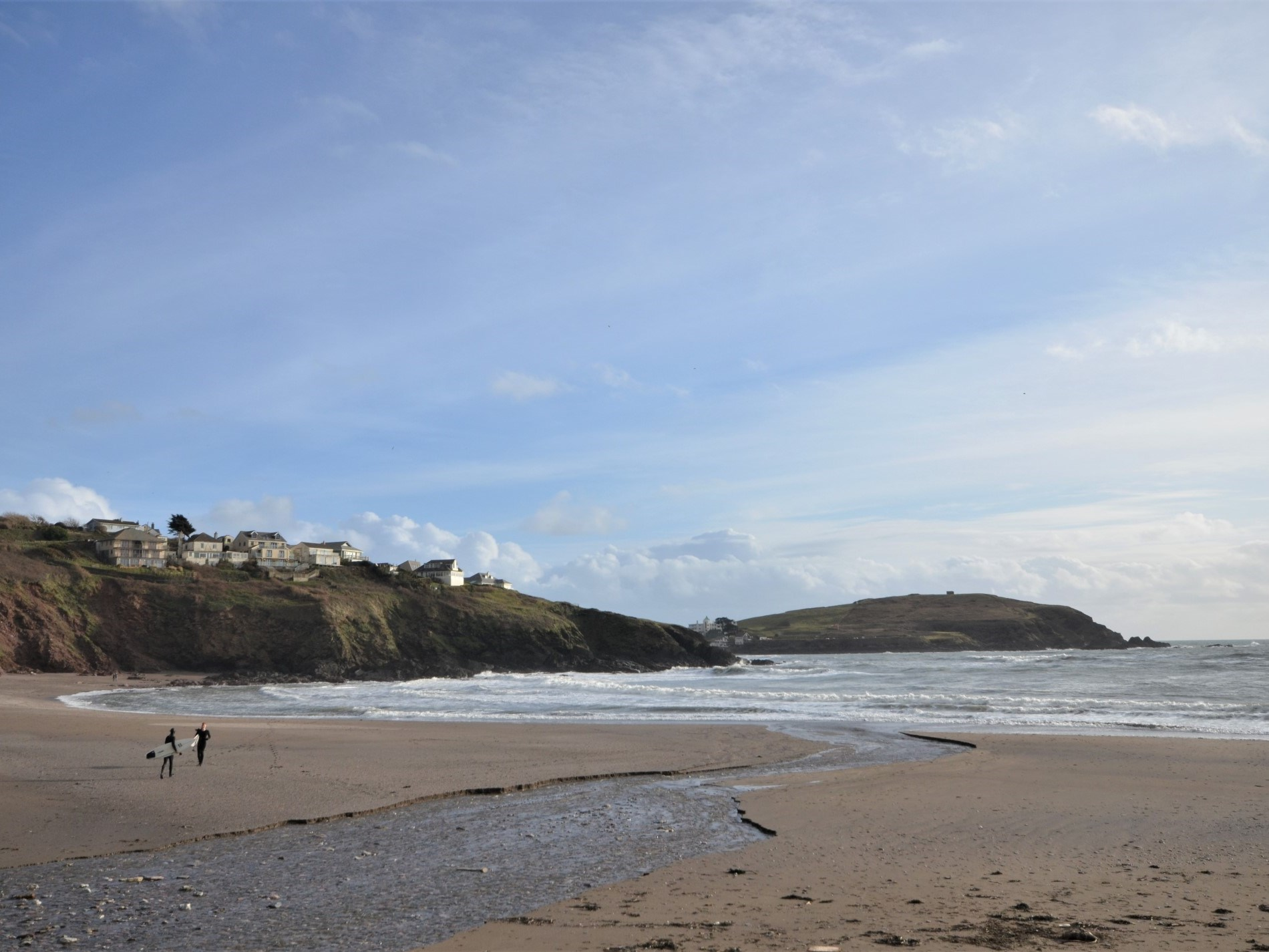 Enjoy a walk Challaborough Bay Beach and enjoy the views to Burgh island