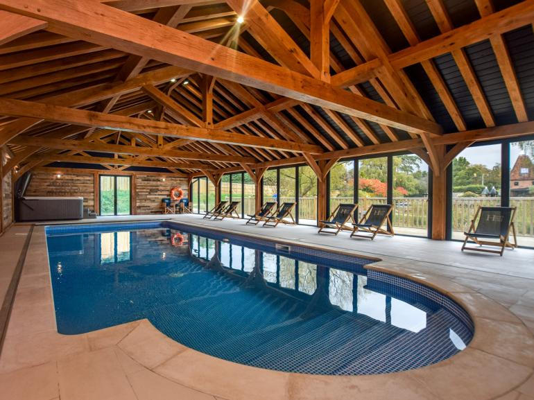 Newly built indoor heated swimming pool