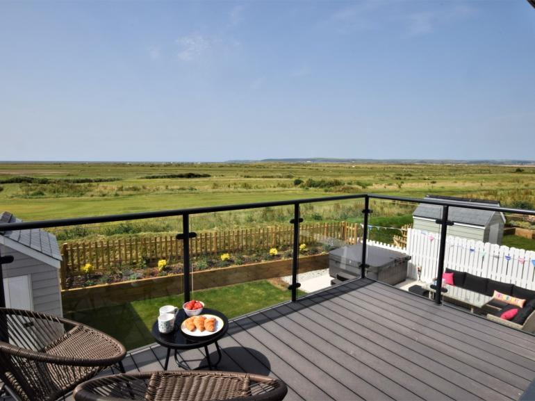 And relax - balcony views across Northam Burrows to the sea