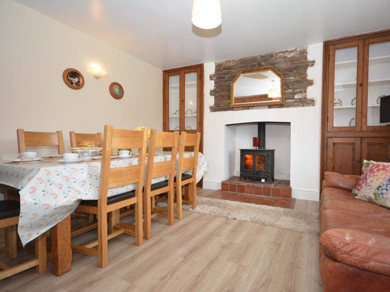 Relax and enjoy a meal infront of the woodburner