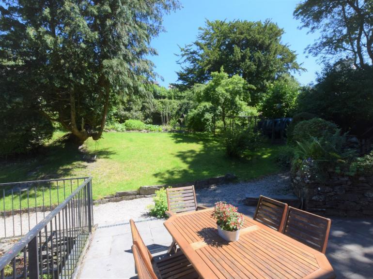 Dine alfresco in the private garden
