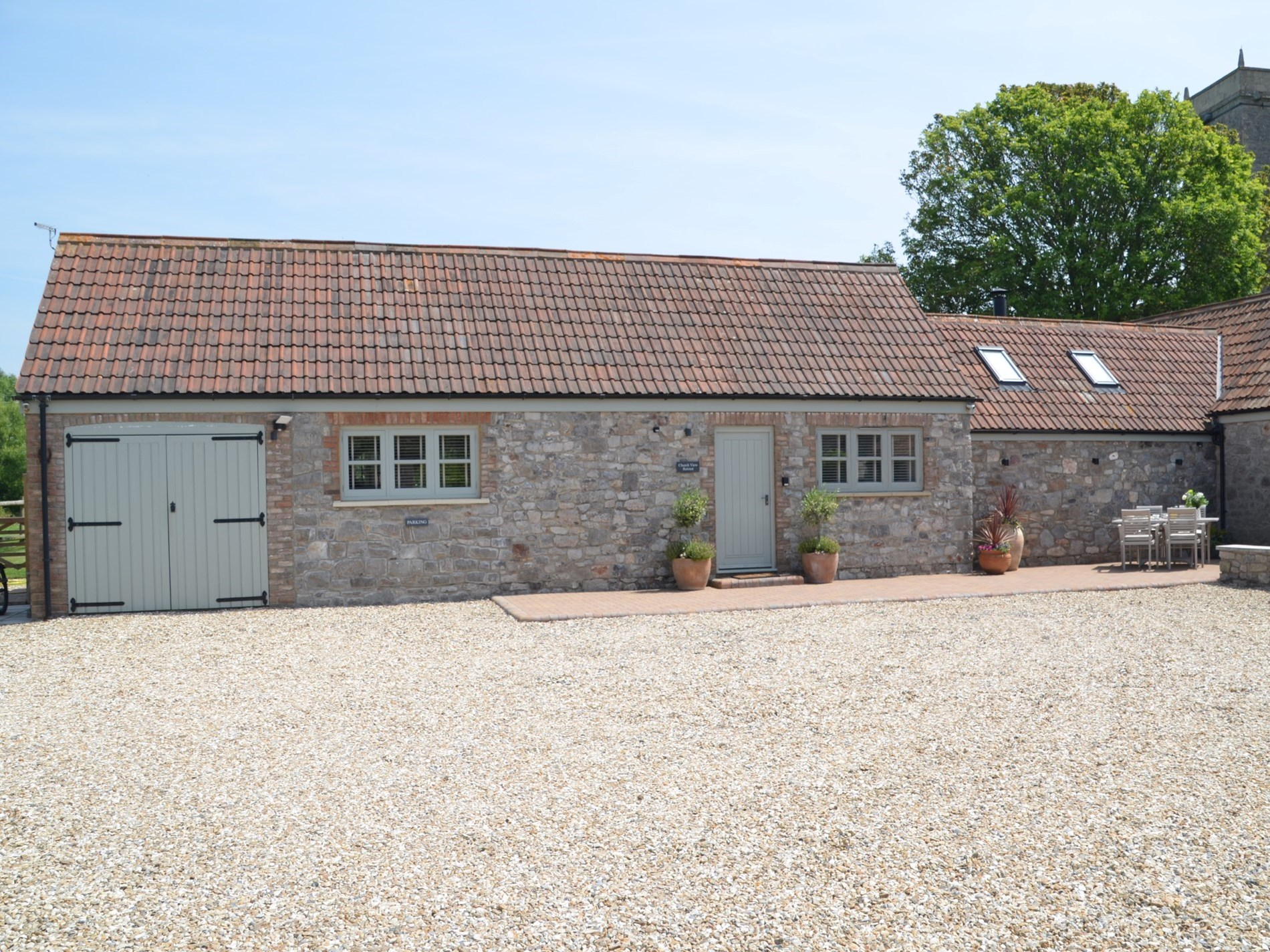 Looking towards this stunning studio barn conversion