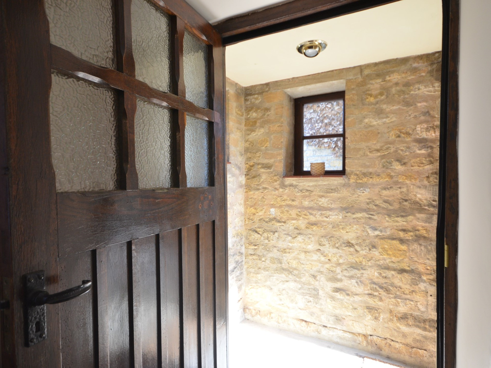 Traditional Cotswolds stone entrance