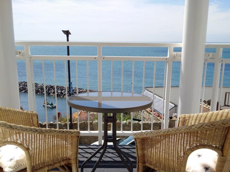 The balcony is the perfect spot to take in Ventnor's bustling ambiance