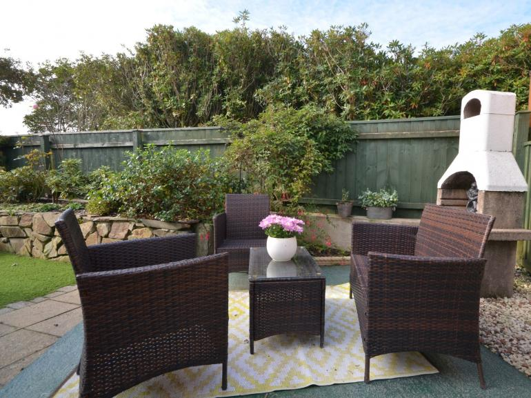 Enjoy relaxing in the enclosed garden area