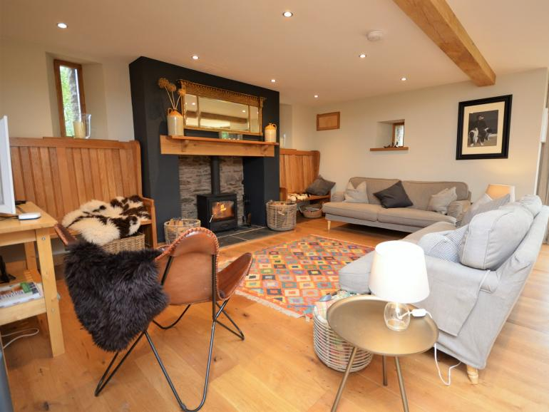 A stylish converted barn which is perfect for a holiday with family or friends
