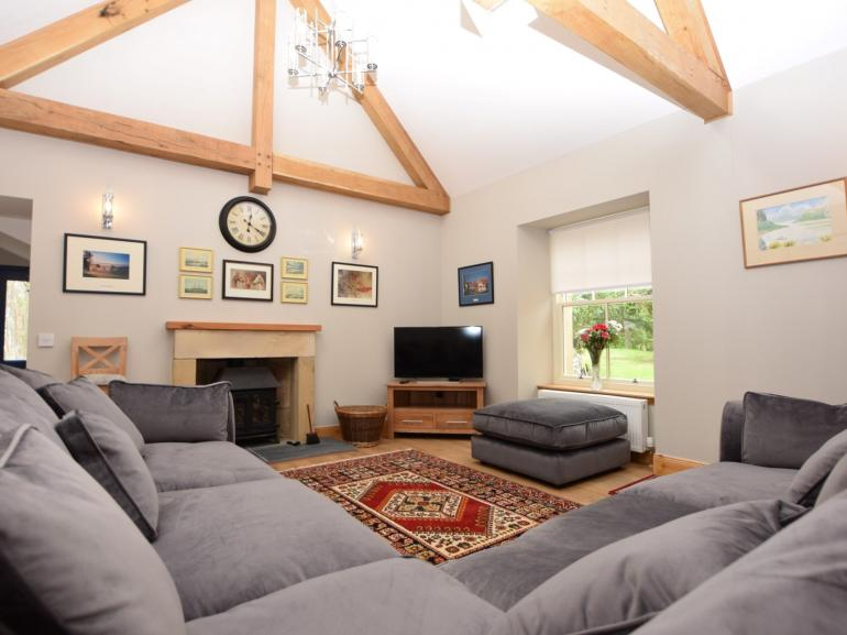 Relax on the sofas after a day out exploring the beautiful local area