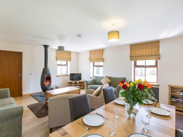 Stylish interior with plenty of space for three