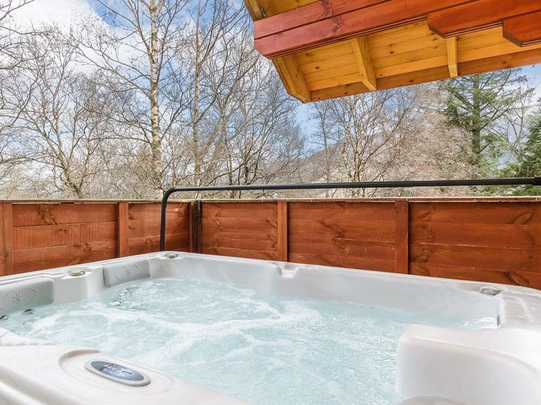 Take time to unwind in the hot tub