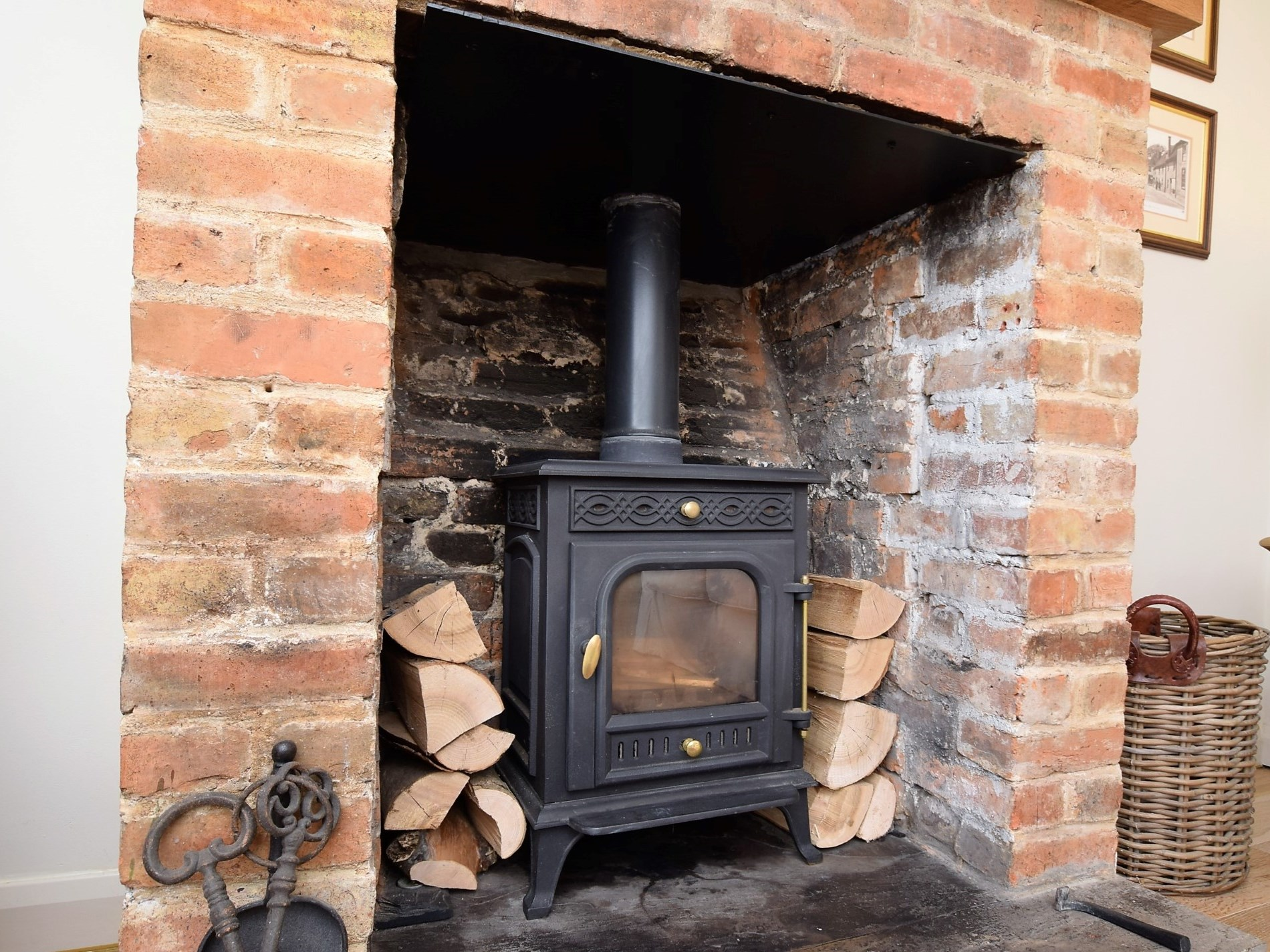 Light the wood burner on chilly evenings