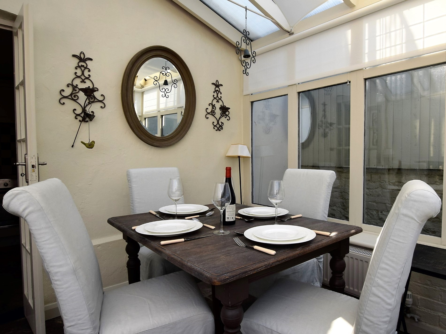Enjoy dining in the conservatory