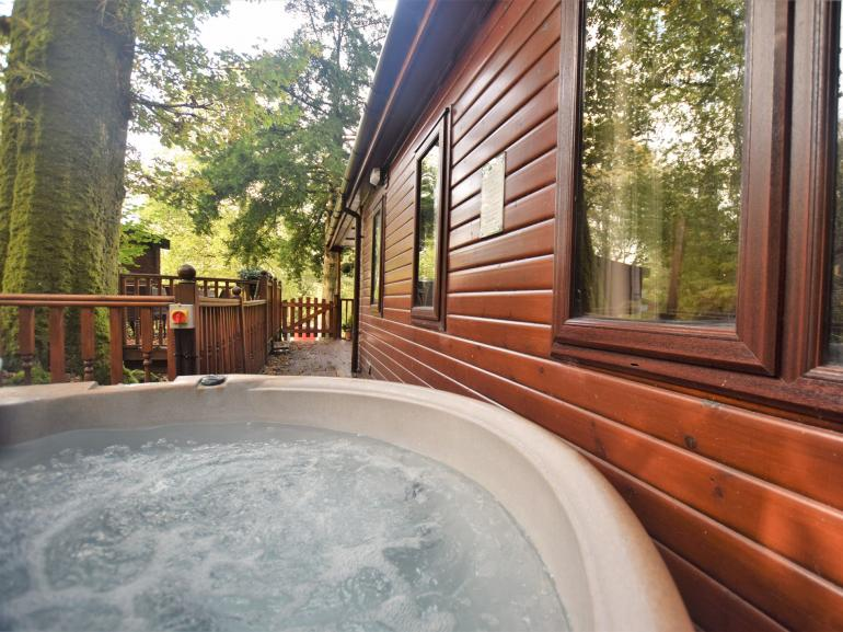 Relax in this private hot tub