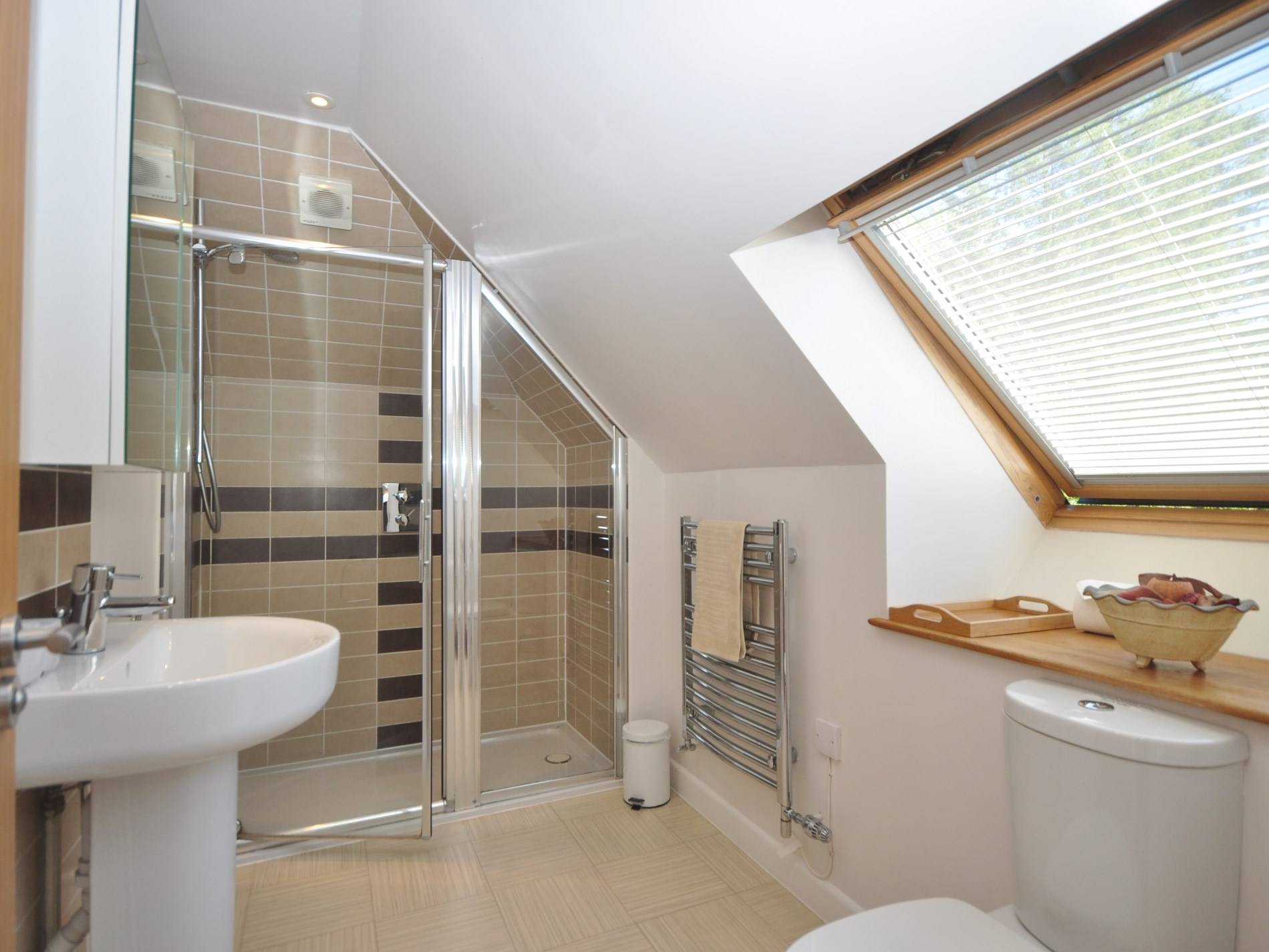A large walk-in style shower