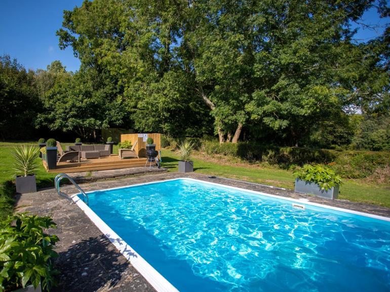 Enjoy a dip in the heated pool