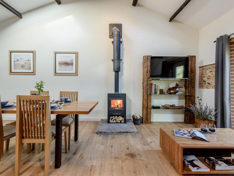 Spacious open-plan living in this stylish rural retreat