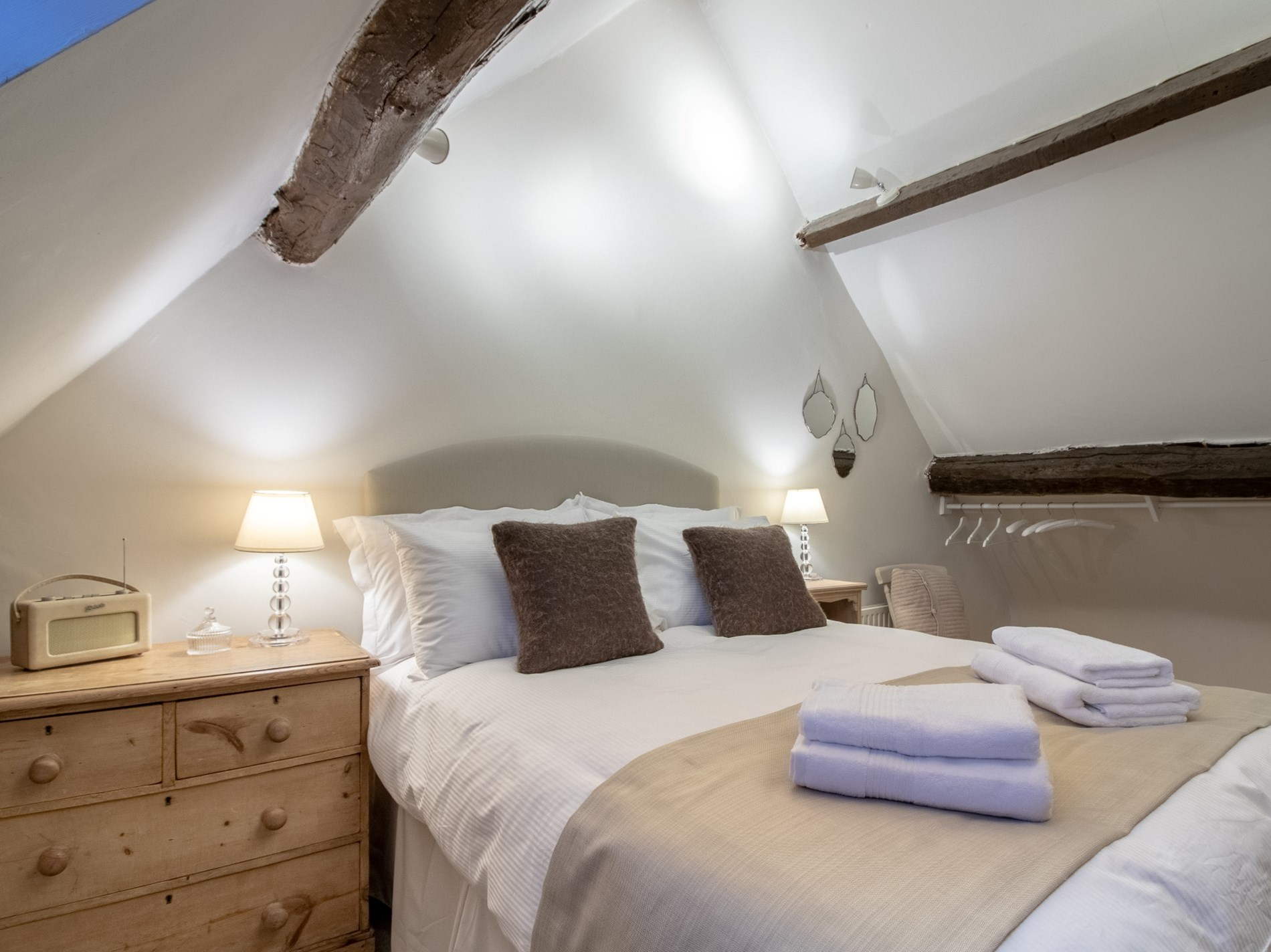 Double bedroom set within the eaves