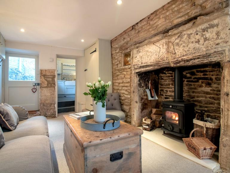 Sit back and relax in front of the wood burner