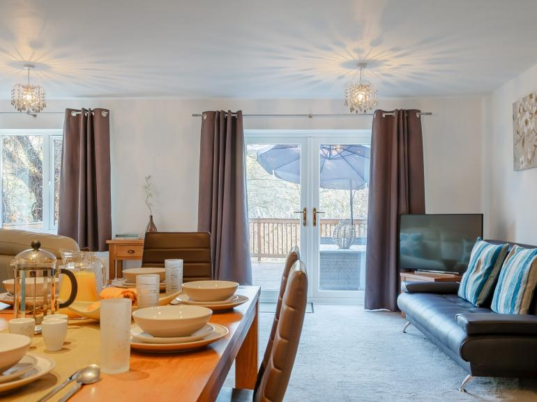 This property boasts great social areas, both inside and out