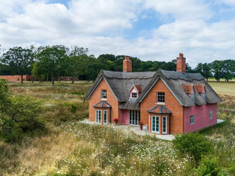 A delightful traditional Suffolk pink farmhouse
