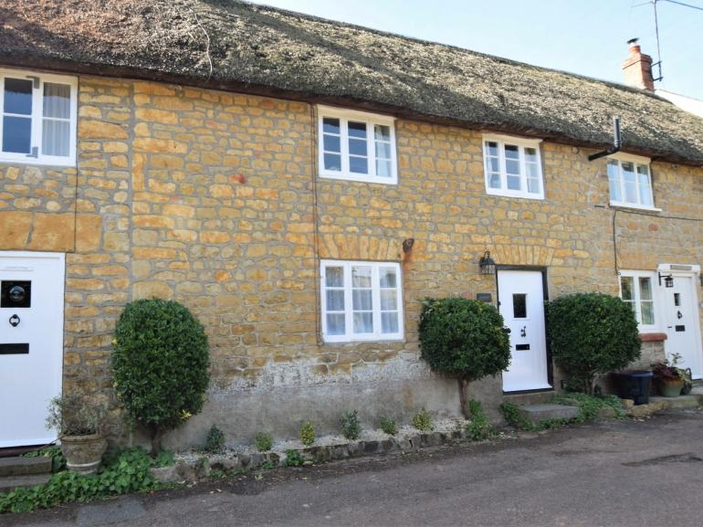Looking towards the front of this charming thatched cottage