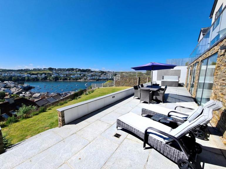 Relax and take in the view from the garden loungers