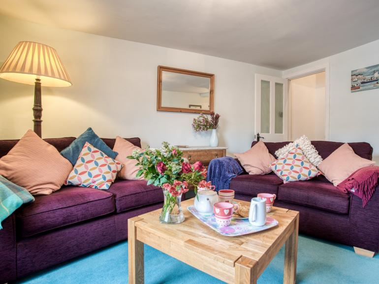 Enjoy relaxing in the cosy sofas