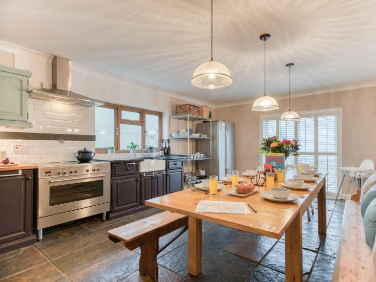 Beautiful property boasting large kitchen/diner with patio doors to the garden
