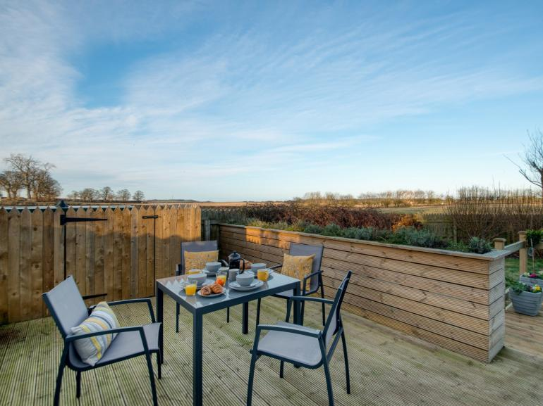 Enjoy the views over an al fresco breakfast