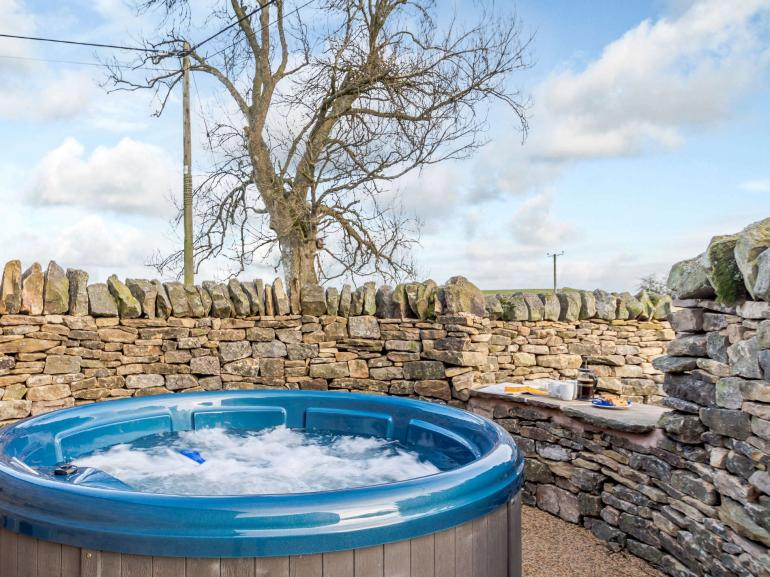 Relax in the lovely warm bubbles after exploring the countryside