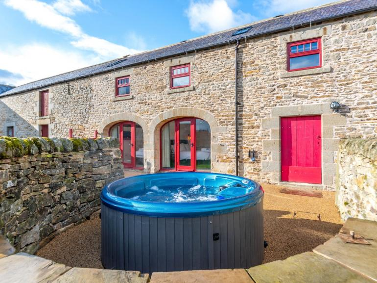 Soak your cares away after a day exploring the countryside