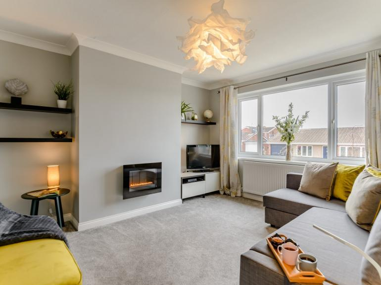 Cosy modern and bright lounge