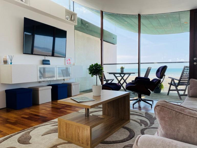 Sea view from lounge area