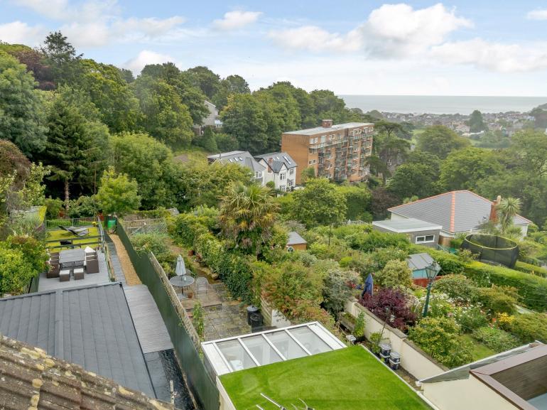 View from the upper floor bedroom overlooking Swansea Bay