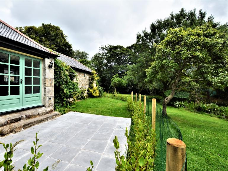 Relax and unwind in the enclosed garden