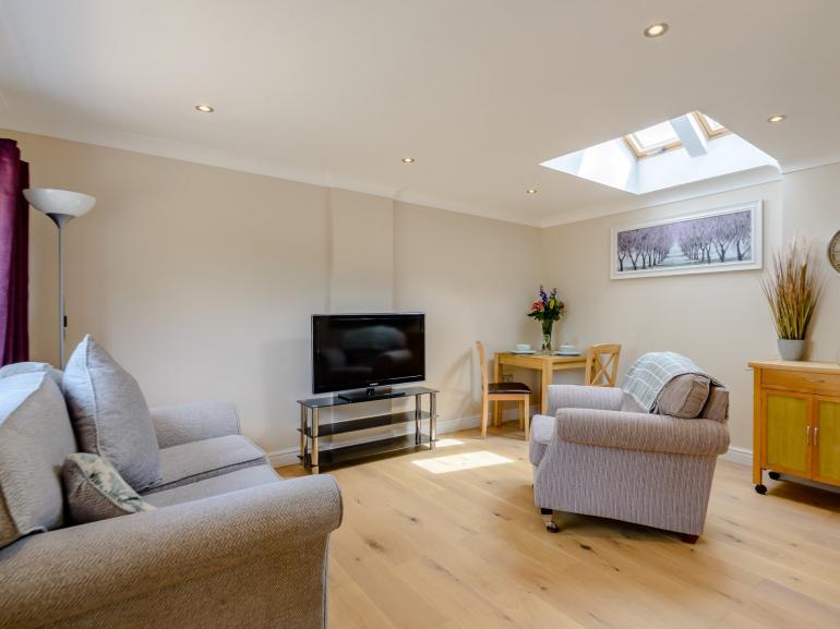 Light lounge kitchen area